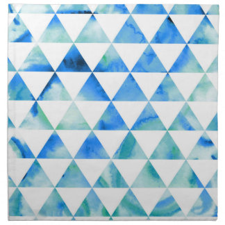 Blauer Aquarell-Dreieck-Entwurf Serviette