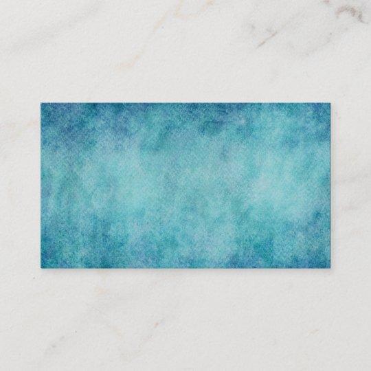 Blauer Aquarell Türkis Papier Hintergrund Visitenkarte