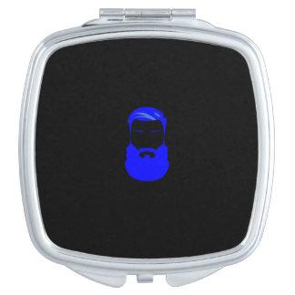 Blauer Bart-Quadrat-Vertrags-Spiegel Schminkspiegel
