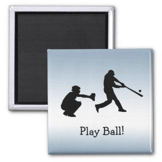 Blauer Baseballspiel-Ball trägt Magneten zur Schau Quadratischer Magnet