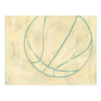 Blauer Basketball durch Chariklia Zarris Postkarten