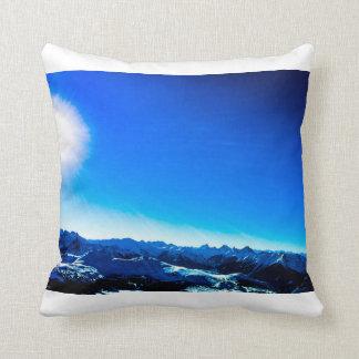 Blauer Berg Kissen