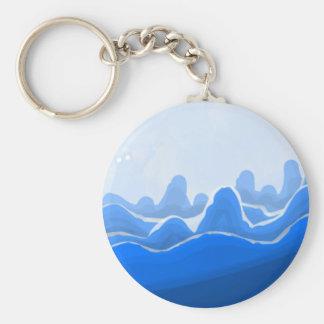 Blauer Berg Schlüsselanhänger