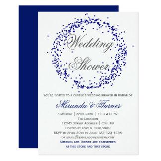 Blauer Confetti - der Polterabend des Paares 3X5 Karte