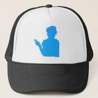 Blauer Damenhut Truckerkappe