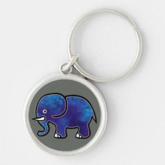 blauer Elefant Schlüsselanhänger
