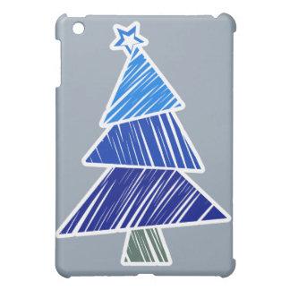Blauer flüchtiger Weihnachtsbaum iPad Mini Hülle