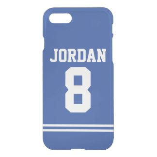 Blauer Fußball Jersey mit Zahl iPhone 7 Hülle