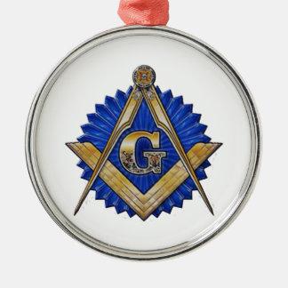 Blauer Häuschen-Maurer Silbernes Ornament