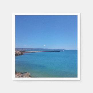 Blauer Himmel-und Ozean-Landschaftspapierserviette Papierservietten