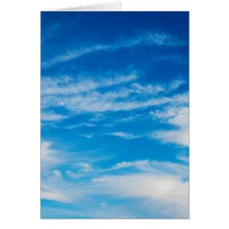 Blauer Himmel-Weiß bewölkt himmlischen Karte
