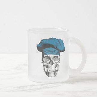 Blauer Hut-Kochs-Schädel Mattglastasse