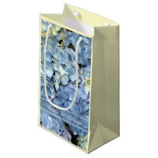 Blauer Hydrangea-Blumenhochzeit Kleine Geschenktüte