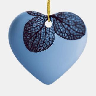 Blauer Hydrangea Keramik Ornament