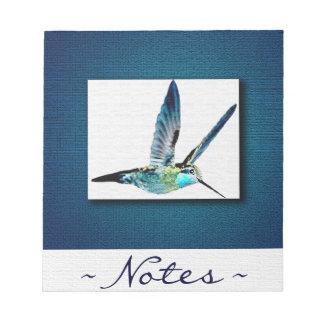 Blauer Kolibri elegant Notizblock