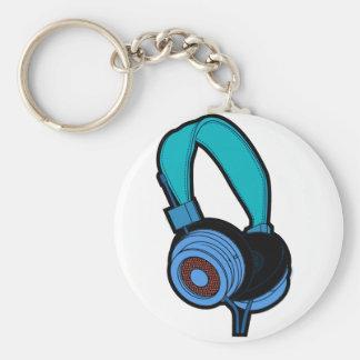 Blauer Kopfhörer Schlüsselanhänger