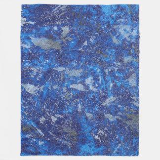 Blauer Kosmos #2 Fleecedecke