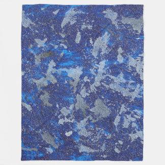 Blauer Kosmos #3 Fleecedecke