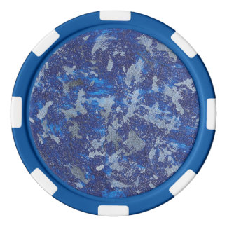 Blauer Kosmos #3 Poker Chip Set