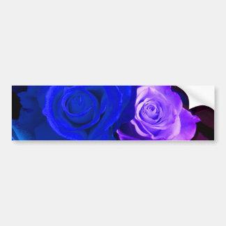 Blauer lila Rosen-Autoaufkleber - kundengerecht