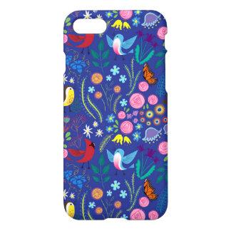Blauer lustiger Vogel-Entwurf iPhone 8/7 Hülle