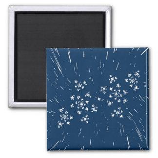 Blauer Magnet Quadratischer Magnet