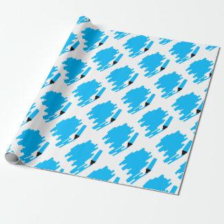 Blauer Markierungs-Kopien-Raum Geschenkpapier