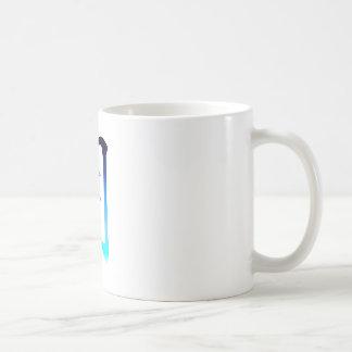 Blauer Mond-Kanji Kaffeetasse