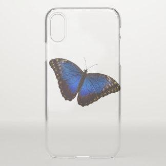 Blauer Morpho Schmetterling iPhone X Hülle