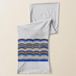 Blauer Mosaik-Jersey-Schal Schal