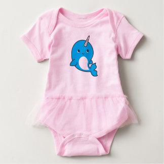 Blauer Narwhal Baby-Ballettröckchen-Bodysuit Baby Strampler