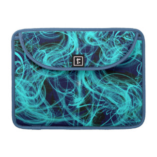 Blauer NeonlichtScrawl Macbook Prohülse Sleeve Für MacBook Pro