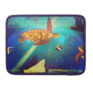 Blauer Ozean-bunte Meeresschildkröte-Malerei Sleeve Für MacBook Pro