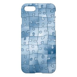 Blauer Puzzlespiel-Kasten iPhone 8/7 Hülle