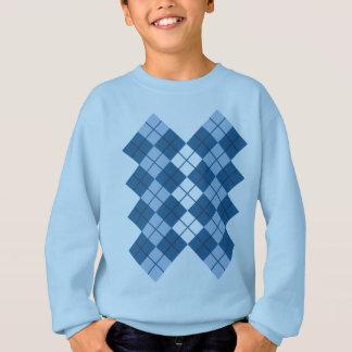 Blauer Rauten-Entwurf Sweatshirt