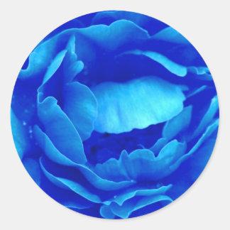 Blauer Rosen-Aufkleber - kundengerecht