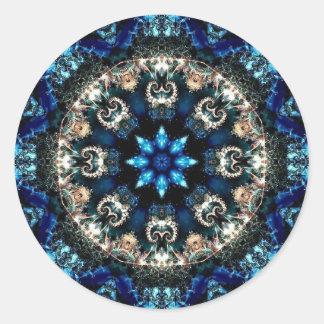 Blauer Samt Runder Aufkleber