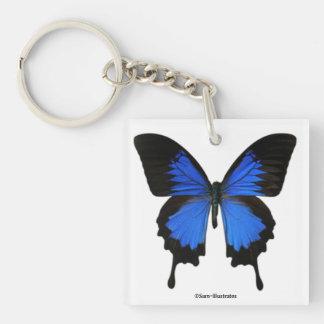 Blauer Schmetterling Keychain Zusatz Schlüsselanhänger