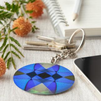 Blauer Schmetterling Schlüsselanhänger