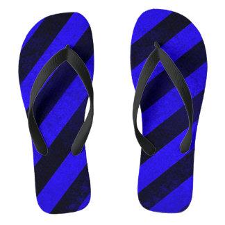 Blauer Schmutz Stripes Sandalen Badesandalen