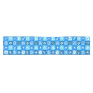 Blauer Schneeflocke-Tischplatte-Läufer Kurzer Tischläufer