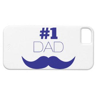 Blauer Schnurrbart des Vati-#1 - Nr. eine iPhone 5 Schutzhülle
