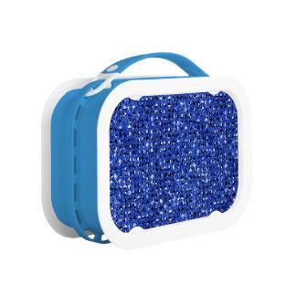 Blauer Sequinned Bling Effekt Brotdose