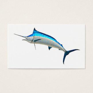 Blauer Speerfisch-Sportfisch Visitenkarten