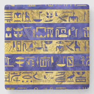 Blauer Stein des goldenen ägyptischen Steinuntersetzer