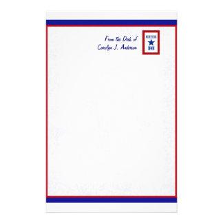 Blauer Stern-Mamma-Militär Briefpapier