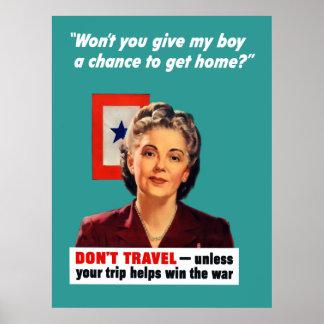 Blauer Stern-Mutter Poster