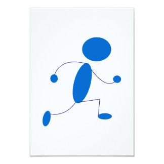 Blauer Strichmännchen-Betrieb 8,9 X 12,7 Cm Einladungskarte