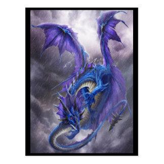 Blauer Sturm-Drache Postkarte