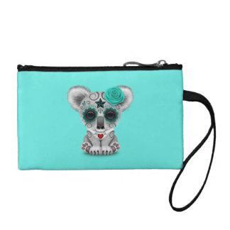 Blauer Tag des toten Baby-Koala Münzbeutel